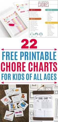 22 Free Printable Chores Charts For Kids Of All Ages Chore Chart For Toddlers, Charts For Kids, Free Printable Chore Charts, Free Printables, Printable Chore Cards, Schedule Printable, Chore Checklist, Chore List, Chore Calendar