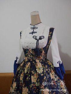 完售*Ladylike Melody 中华风LOLITA *熏香*托胸连衣裙的图片