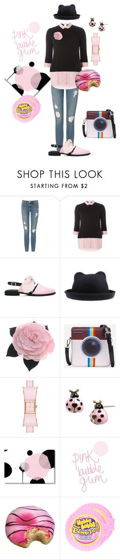 """Hubba Bubba"" by glamourgrammy ❤ liked on Polyvore featuring Frame, Dorothy Perkins, Mother of Pearl, Chanel, Betsey Johnson and Iscream"