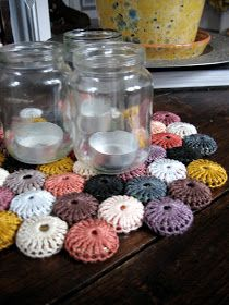just dandy: Crocheted Bottle Cap Trivet