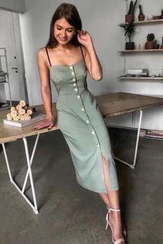 Find inspiration here for cute summer dresses to help keep you cool and comfortable on those beautiful hot summer days! #fashion #summer #dresses #dressesforwomen #womensclothing Spring Fashion Outfits, Summer Dress Outfits, Cute Summer Dresses, Summer Outfits Women, Casual Summer Outfits, Trendy Dresses, Spring Dresses, Yellow Dress Summer, Fashion 2020