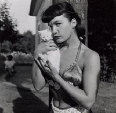bettie page & kitten
