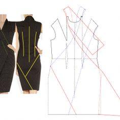Pattern Dress, Dress Patterns, Sewing Patterns, Donna Karan, Dresses For Work, Black, Fashion, Gowns, Moda