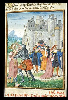 Troilus from the British library Royal 18 D II f 87, 1500-1525