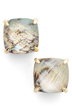 kate spade new york square stud earrings in mother of pearl