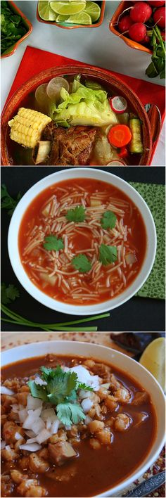 Yes, it is National Soup Month, and we have your soup playbook right here with our top 3 comfort soups: sopa de fideo, menudo and caldo de res.