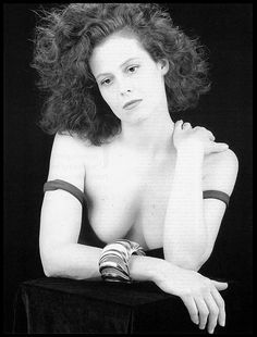 SIGOURNEY WEAVER  •  Andy Warhol's Interview Magazine • Robert Mapplethorpe • 1988 • CLASSIC •