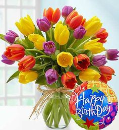 Send birthday flowers delivery to surprise someone for their special day! Our fresh happy birthday flower arrangements and bouquets will make them smile. Happy Birthday Bouquet, Happy Birthday For Her, Birthday Roses, Happy Birthday Pictures, Happy Birthday Funny, Happy Birthday Messages, Happy Birthday Quotes, Funny Happy, Humor Birthday