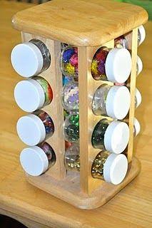 Craft Supply Holder (repurposed spice rack)