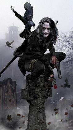 The Crow movie crow Brandon Lee, Bruce Lee, Dark Fantasy Art, Dark Art, Crow Images, Crow Movie, Crow Art, Illustration, Horror Art