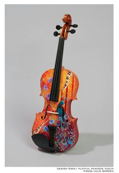 I don't know why I am so fascinated by violin art. But I definitely need to have mine painted!!