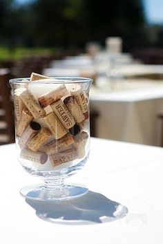 Center piece idea, if I get to do the winery wedding