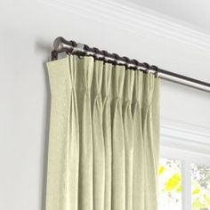Image result for pale green linen curtains