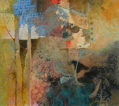 Blue Trees - Judy Thorley TWS - Mixed Media Artist .........#GT