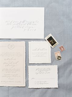 Stationery: Brown Linen Design - http://www.stylemepretty.com/portfolio/brown-linen-design Photography: Jake and Heather - jakeandheatherphoto.com/   Read More on SMP: http://www.stylemepretty.com/2015/12/04/charming-french-estate-wedding-inspiration/