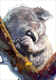 Lazy Australia Watercolor Koala Painting Drawing- Miscellaneous category World Image. Animal Paintings, Animal Drawings, Cute Drawings, Watercolor Animals, Watercolor Art, Koala Illustration, Bear Art, Cute Art, Painting & Drawing