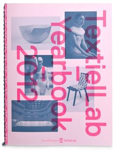 TextielLab publishes its yearbook, featuring the most interesting projects being developed there during the past year. The 2012 edition is designed as a continuation of the identity that was introduced earlier.