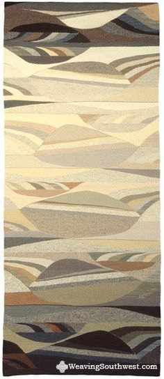 Your Daily Dose of Inspiration! Study in Neutrals, Original Tapestry by Rachel Brown, hand-dyed wool, 74.4″ x 31″, 1997. Enjoy!