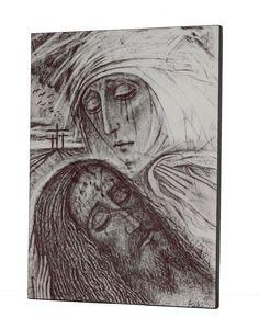 Icono 'La Piedad', obra de Kiko Argüello, iniciador del Camino Neocatecumenal.