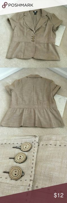 studio 1940 womens large career blouse short sleev excellent condition with no flaws exposed thread professional and classy studio 1940 Tops Blouses