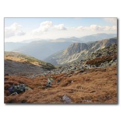 Get your hands on a customizable Romania postcard from Zazzle. Find a large selection of sizes and shapes for your postcard needs! Mountain Landscape, Romania, Postcards, Mountains, Nature, Travel, Viajes, Naturaleza, Destinations