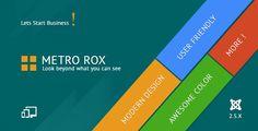 Metro Rox HTML5 Joomla Metro Multipurpose Template