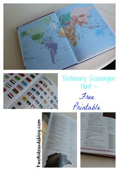 Dictionary Scavenger Hunt - Two Kids and a Blog
