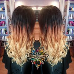 Multi tone ombre!   ☀ #goldwell #matrix #opalex #btcpics #idohair #modernsalon #whocuts #behindthechair #hottoolspro #ombrehair #ombre #colormelt #hairpainting #hairporn #hairbykaseyoh #blondehair #curls #beautylAunchpad #salon #spa #westminster #maryland #thehairafter