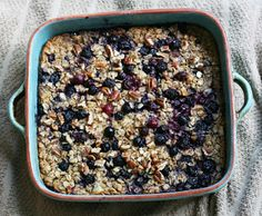 blueberry banana baked oatmeal