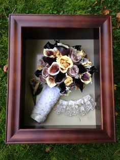 Preserved bridal bouquet flowers. Lilies. Roses. www.etsy.com/shop/DontTossTheBouquet