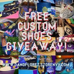Dan-O Florez is doing a giveaway of one of his beautiful pairs of custom shoes! So excited to have a chance to win a pair of Disney themed shoes for the DCP!