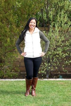 I love layering for Fall, the puffy vest and boots, so comfy. Here is my go to Fall outfit
