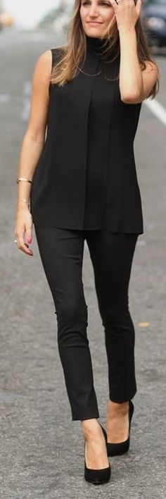 all black everything — That Pencil Skirt #all