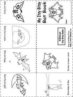 Bat Activity Sheets -Itsy Bitsy Bat Book
