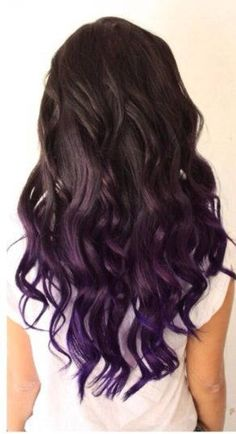 Do you want dark purple hair color? We have pictures of Amazing Dark Purple Hair Color Ideas that will inspire the purple diva in you! Mermaid Hair Extensions, Colored Hair Extensions, Clip In Hair Extensions, Purple Extensions, Fusion Extensions, Eyelash Extensions, Hair Color Purple, Purple Hair Tips, Curly Purple Hair