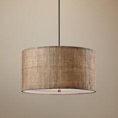 Uttermost Dafina Burlap 3-Light Pendant Light at LampsPlus $227