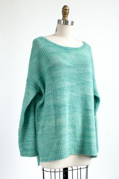 Warnock Oversized, Relaxed Fit Pullover Knitting Pattern using Manos del Uruguay Silk Blend yarn Beginner Knitting Patterns, Easy Knitting Projects, Sweater Knitting Patterns, Cardigan Pattern, Knitting For Beginners, Knitting Ideas, Online Yarn Store, Yarn Inspiration, Vogue Knitting