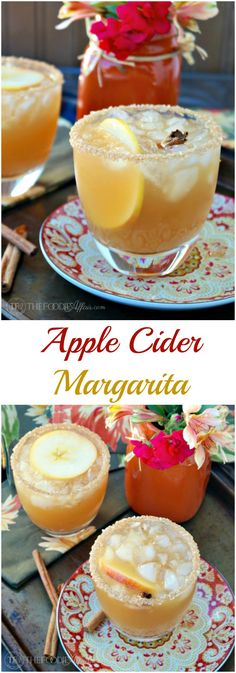 Cozy up with an Apple Cider Margarita this Fall! This classic cocktail is a delicious mix of tequila, orange liquor and apple cider. The Foodie Affair (Classic Cocktails) Fall Cocktails, Fall Drinks, Holiday Drinks, Classic Cocktails, Mixed Drinks, Apple Cocktails, Thanksgiving Drinks, Bourbon Cocktails, Margarita Recipes