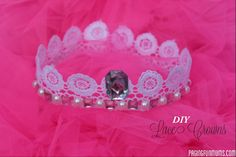 DIY Lace Crowns..the perfect DIY accessory for any little princess!