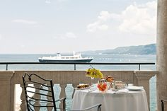 Savoia Excelsior Palace is one of the best luxury hotel in Trieste, Italy, with stunning views on the Gulf near Piazza Unità d'Italia. Book now for best rates! Outdoor Sofa, Outdoor Furniture Sets, Outdoor Decor, Austro Hungarian, Summer Is Coming, Trieste, Palace, Luxury, Breakfast