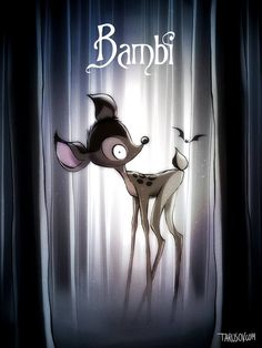 Artist Andrew Tarrusov's classic Disney posters reimagined in the style of Tim Burton