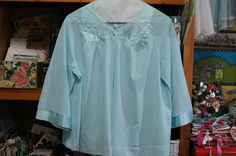 Vintage Bed Jacket Aqua Blue by strangenotions on Etsy, $21.95