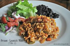 Darcie's Dishes: Brown Spanish Rice// A great addition to any Mexican dish. Make it as mild or spicy as you can handle. It is gluten-free and Trim Healthy Mama compatible.