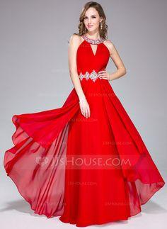Vestidos+de+baile+de+promoción+Corte+A/Princesa+Escote+redondo+Vestido+Chifón+Vestido+de+baile+de+promoción+con+Volantes+Bordado+(007040817)+http://jjshouse.com/es/Corte-A-Princesa-Escote-Redondo-Vestido-Chifon-Vestido-De-Baile-De-Promocion-Con-Volantes-Bordado-007040817-g40817
