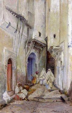 Une rue dans la casbah d'Alger par Knut Gustaf Waldemar Tode