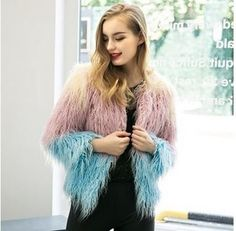 Material: Faux Fur Sleeve Length: Full Clothing Length: Regular Collar: O-Neck Closure Type: Single Button Sleeve Style: Regular Type: Slim