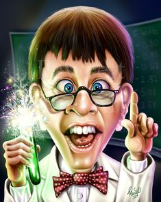 Jerry Lewis, The Nutty Professor By RandyFawcet in Sketchoholic - CARICATURE: http://dunway.com/