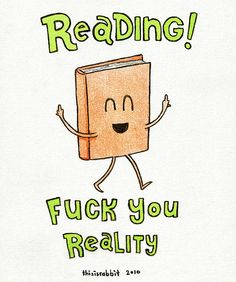 Excuse the profanity, but I just love the idea of a lil book flipping the bird