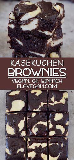 Healthy Dessert Recipes, Health Desserts, Healthy Baking, Easy Desserts, Baking Recipes, Easy Snacks, Dessert Simple, Vegan Cheesecake, Cheesecake Brownies