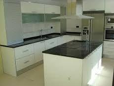 Resultado de imagen para cocina blanca y negra